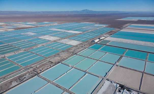 Lithium field in Chile