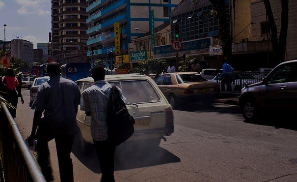 Busy street in Nairobi