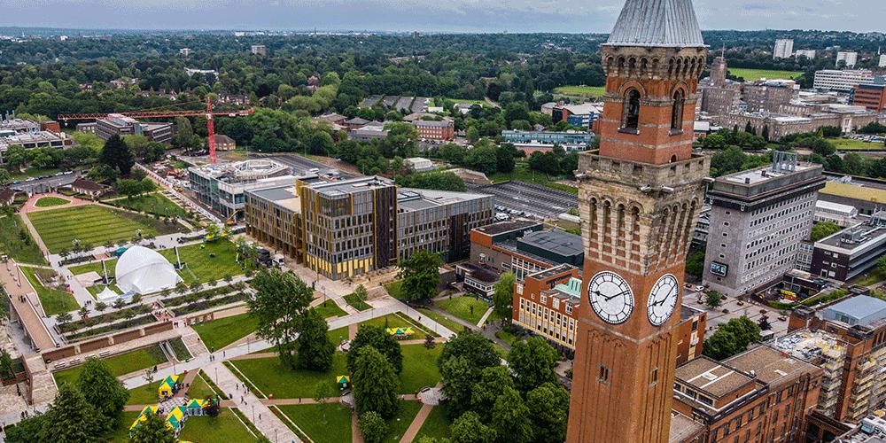 Aerial view of UOB campus