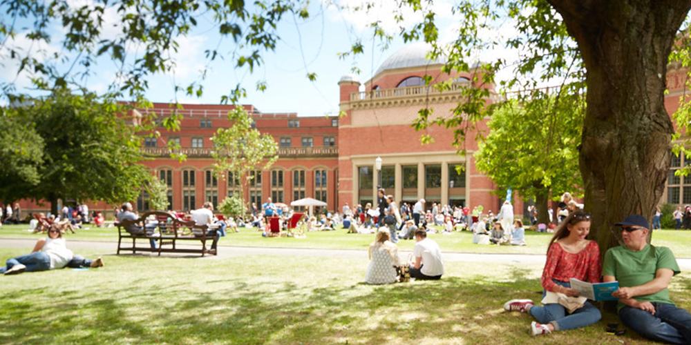 Birmingham campus in summer